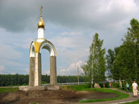 Часовня уже установлена на Плешковском повороте