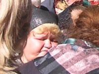 Татьяна Сергеевна на кладбище в Верх-Обском. 15 сентября 2005 года. 40 дней со дня гибели М.С.Евдокимова